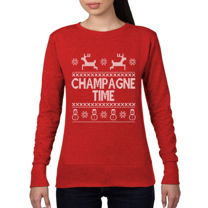 Geek Christmas Jumper.Champagne Time Christmas Jumper Drink Drunk Geek Christmas Sweatshirt Funny Sweater Top Xmas Card Gift Wine Holiday Season Ch18