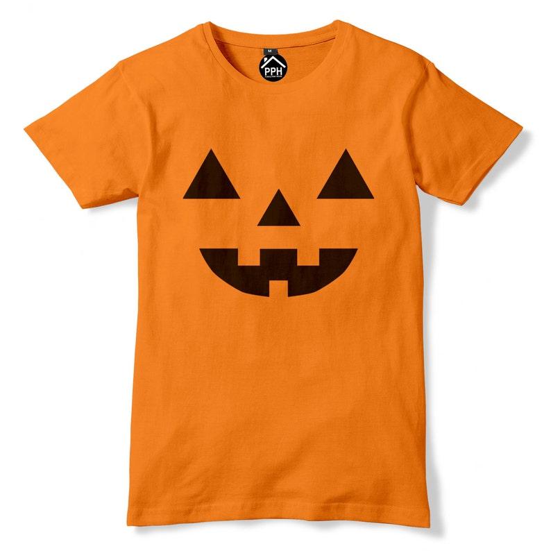 20e3b3b6ad8 Pumpkin Face Mask Halloween Tshirt Friday Horror Film Movie