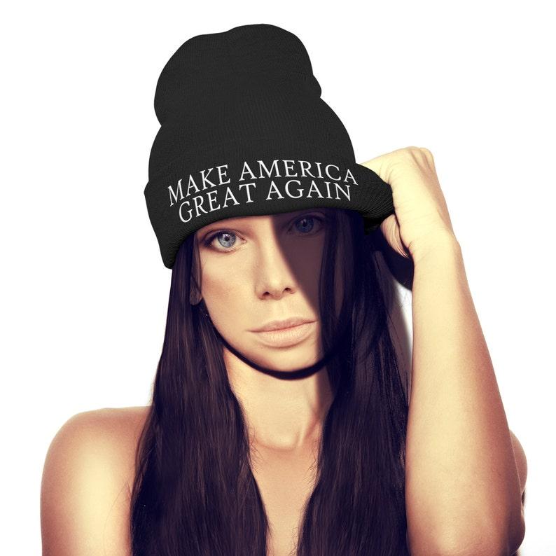 Make America Great Again BEANIE HAT Donald Trump Baseball Cap Hat Election Winner President USA Champ Hat Christmas Winter Ski