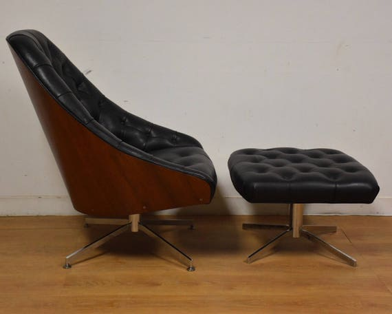 Awe Inspiring Milo Baughman For Thayer Coggin Lounge Chair And Ottoman Theyellowbook Wood Chair Design Ideas Theyellowbookinfo