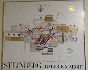 Saul Steinberg Expo Galerie Maeght Poster, 1970