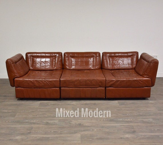 Percival Lafer Leather Patchwork Modular Sofa