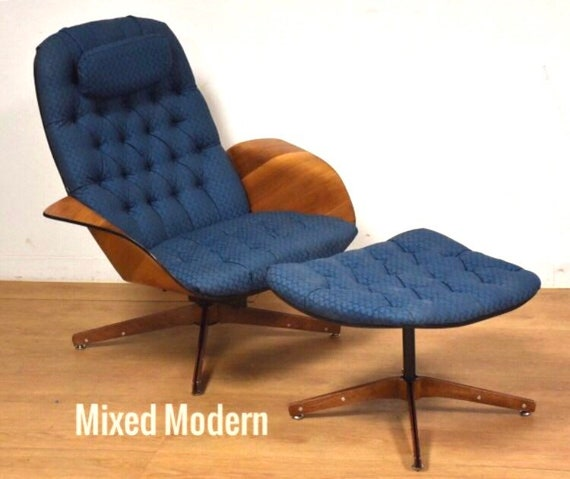 Outstanding George Mulhauser For Plycraft Lounge Chair And Ottoman Ibusinesslaw Wood Chair Design Ideas Ibusinesslaworg