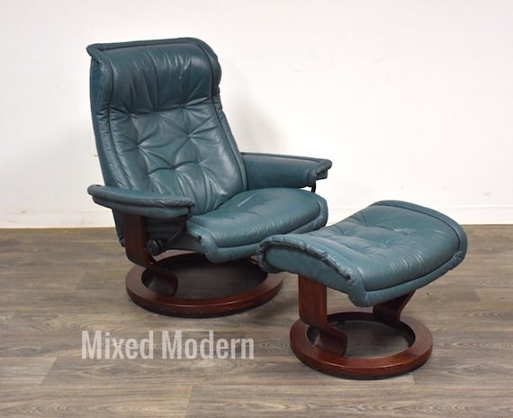 Terrific Modern Leather Stressless Ekornes Lounge Chair Ottoman Ocoug Best Dining Table And Chair Ideas Images Ocougorg