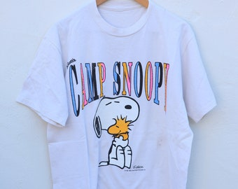 6683878203 Vintage T-Shirt - White - Camp Snoopy