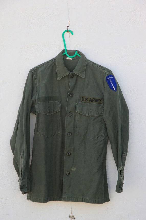 Vintage Army Jacket - Green Canvas -  US Army - Sw