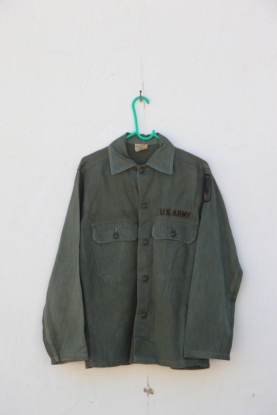 Vintage Army Jacket - Green Canvas - US Army / Sca