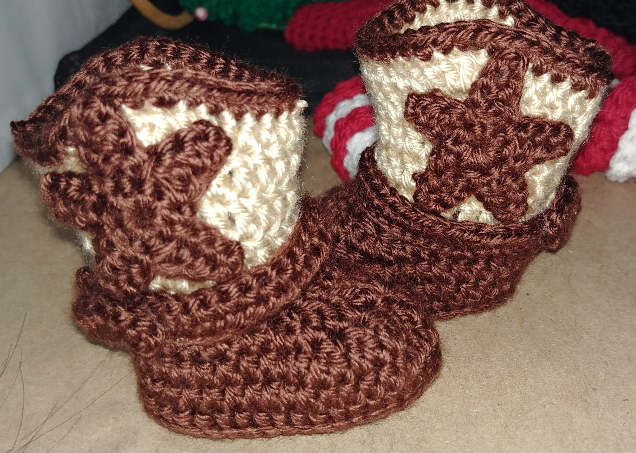 Baby Cowboy Boots Crochet Free Shipping Etsy
