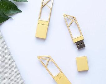 10x 4gb Gold Geometric USB drive