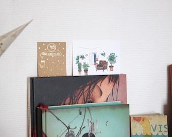 Carte postale illustration plantes vertes