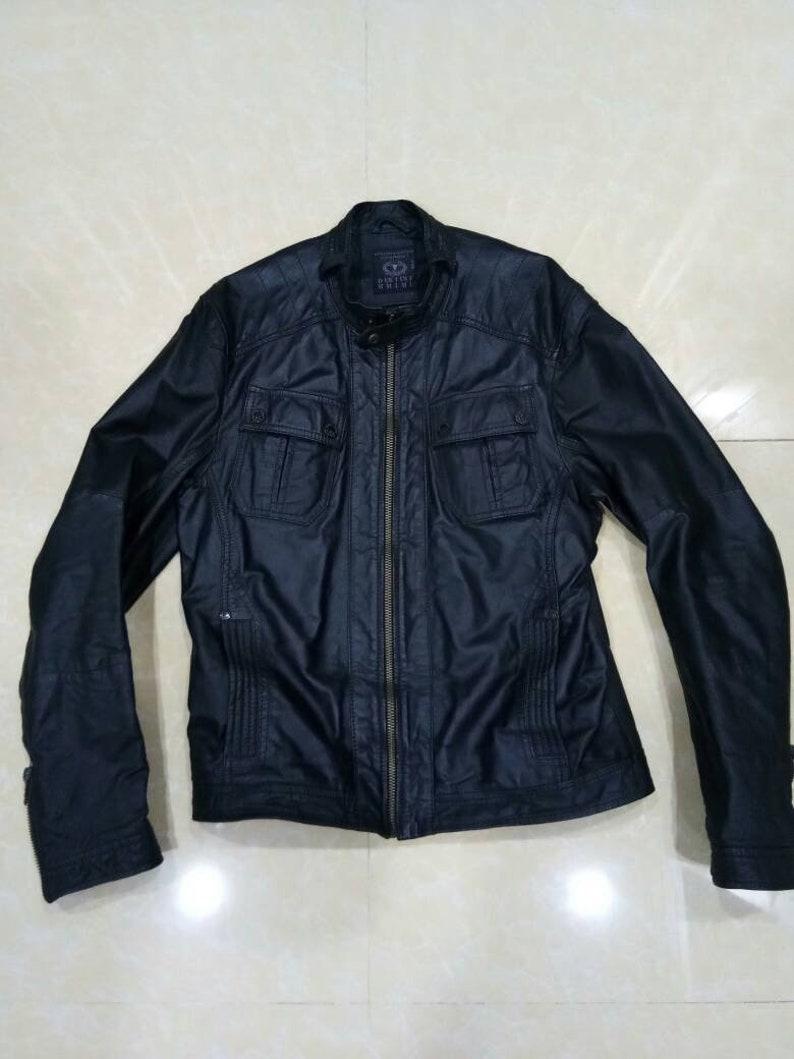 7b11987be6d6 Esprit Bikers Leather Jacket 100% Goat Leather
