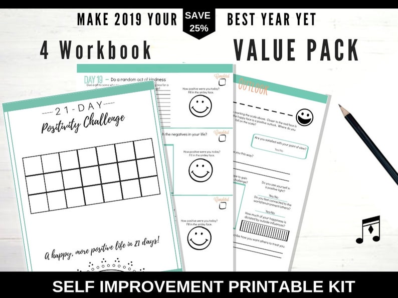 Bullet Journal Kit, 2019 Planner, Adult Coloring Book Self Care, Daily  Planner, To Do List, Mental Health, Agenda, Bullet journal Printable