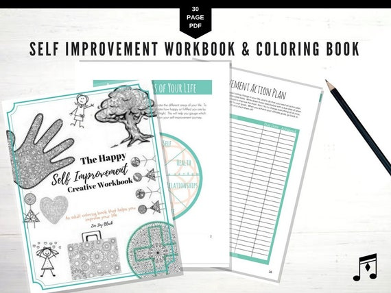 Self Care, Printable, Happy Planner, To Do List, Adult Coloring Book,  Budget Planner, Fitness Planner, Mental Health, Agenda, Monthly,
