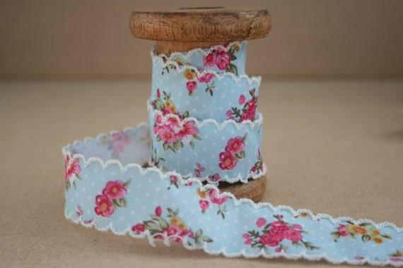 16mm /& 25mm Bertie/'s Bows Rose Floral Print Grosgrain Ribbon Multi Buy Saving