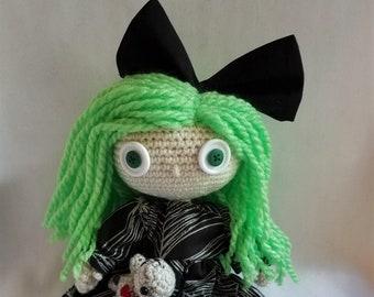 Crochet Goth Doll Etsy