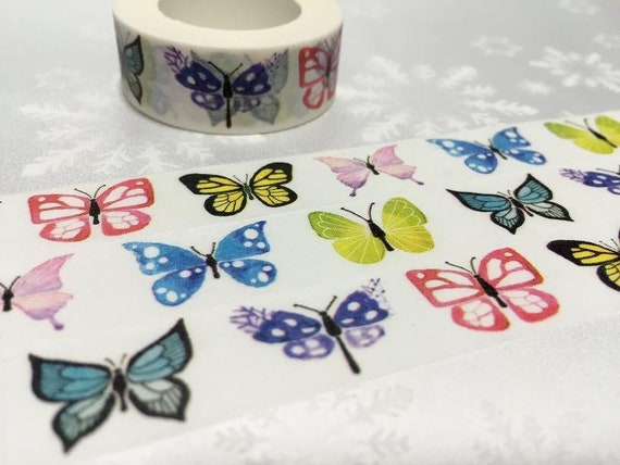 Colorful Butterfly Masking Tape Decorative Adhesive Tape 30mm x 3M No.10564