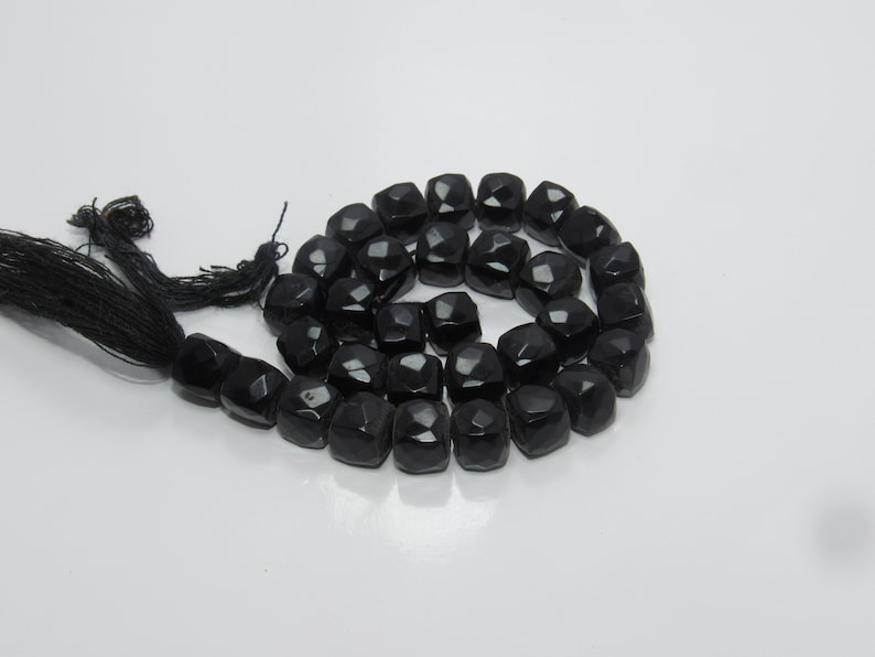 Black Onyx Box Shape Faceted Briolettes Size Approx 7MM Lenght Approx 9/'/'Inch New Arrival Wholesale price