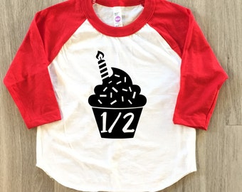 Cupcake Half Birthday Shirt