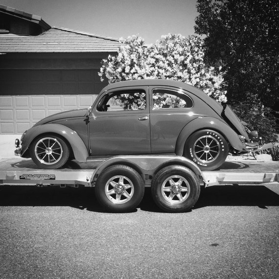 Black And White Volkswagen Beetle Photograph Vw Photography