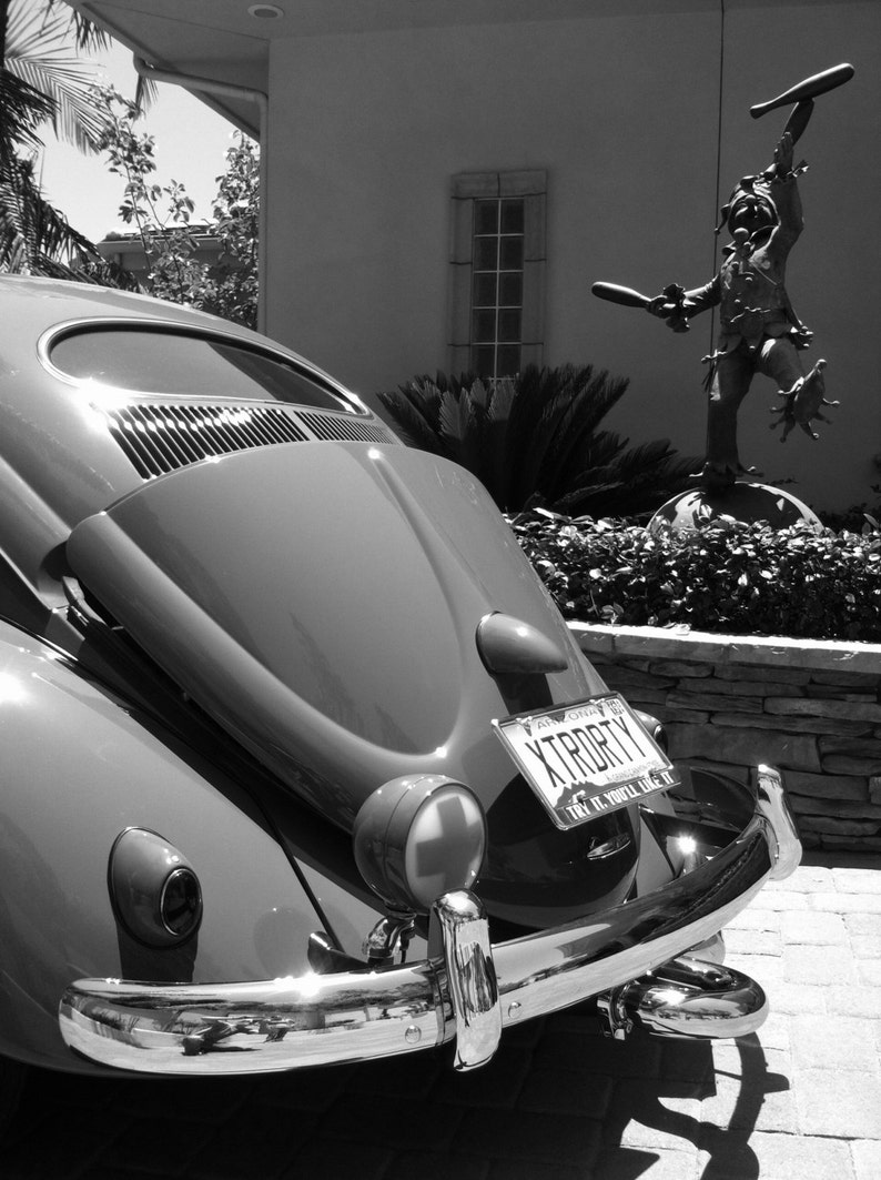 Black and white show car photograph vw bug classic cars volkswagen vw dream car cal look vw custom hot rod hot vws pimento momento