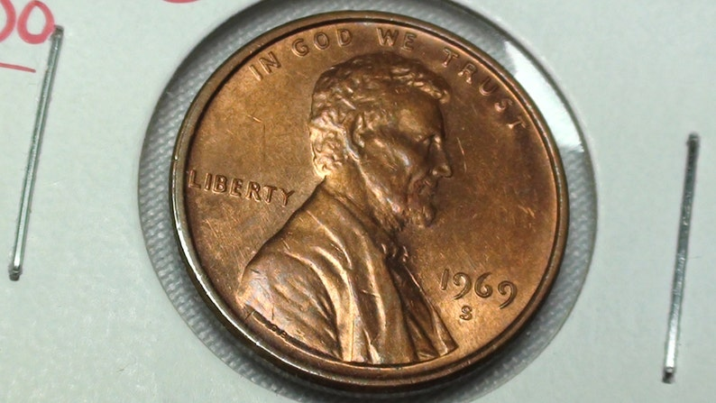 1969 S DDO Penny, doubled die error coin, collectible coins, key date coin,  Lincoln memorial cent, collector coins, Lincoln cent varieties