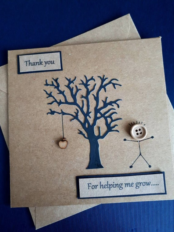 Thank You For Teaching Me Stuff Nursery Card Teacher Teaching Assistant Cute Kid