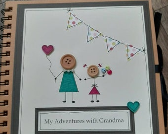Photo album-grandmother gift- scrapbook-birthday-personalised-memory book- mummy-mothering sunday-mum- granny-nanny-nanna