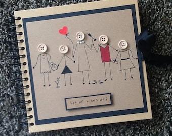 Hen party memory book-bridal shower guest book-gift for bride- bachelorette scrapbook- hen book - hen weekend- photo album- bride to be gift