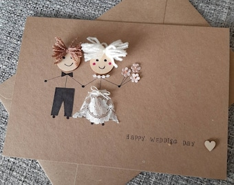 Wedding card - bride - groom - marriage - wedding day- Gay wedding- civil partnership- Mr and Mrs.