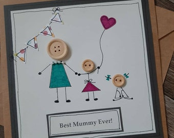 Birthday card-personalised-card for mummy- happy mothers day-mothering sunday-mum- grandmother-nanny-nanna