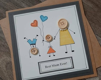 Birthday card-personalised-card for mummy- happy mothers day-mothering sunday-mum- grandmother-nanny-nanna- mothers day