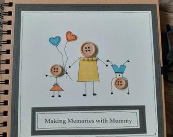 Photo album-gift for mum-scrapbook-birthday-personalised-memory book- mummy-mothering sunday-mum- grandmother-nanny-nanna