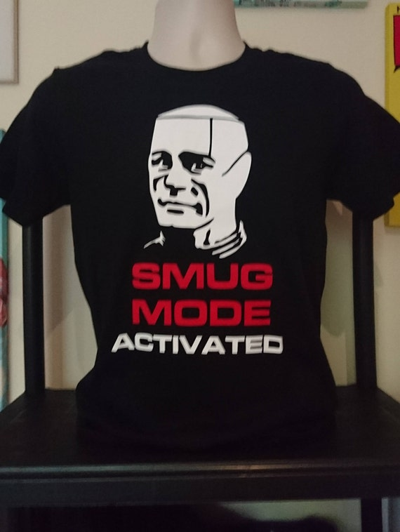 81313aaa035ba0 Kryten Smug Mode Activated T-shirt Red Dwarf Sci-Fi Gift