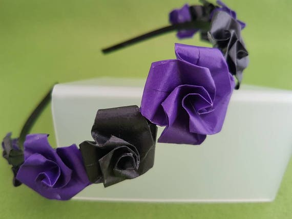 Black flower crown black crown flower crown black flower  1da96f7de75