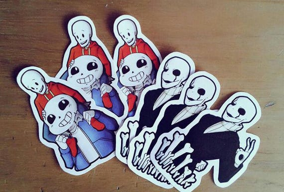 Sans And Papyrus And Gaster Stickers Undertale Etsy