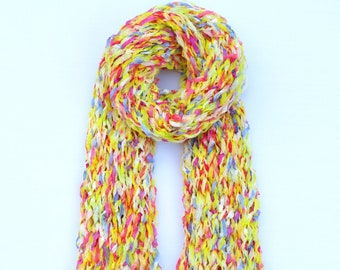 Spring Scarf Made From Recycled Paper - Dot Knits Bright, Textured and Ethical Scarves