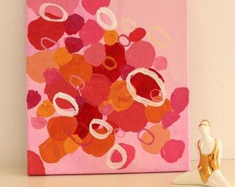 "Acrylic on canvas ""Flora No. 3 ""25 x 30 cm Modern Art acrylic original abstract painting on canvas"