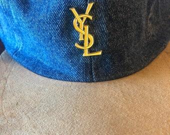 abc6203e67f Exclusive denim ysl hat
