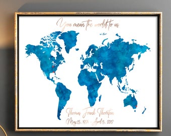 World map guest book etsy popular items for world map guest book gumiabroncs Choice Image