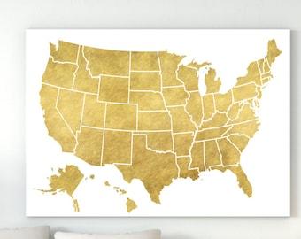 United States Map Decor.Usa Map Etsy