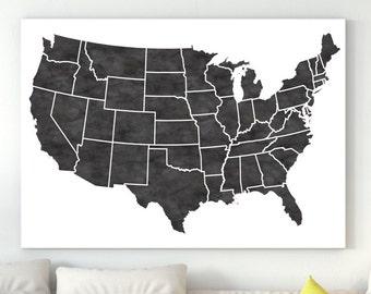 Large us map | Etsy