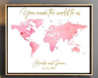 World map guestbook etsy blush pink wedding guestbooks wedding guest book world map guest book world map wedding wedding guestbook gumiabroncs Image collections