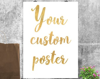 Custom typography Custom wall art Custom quote print Personalized quote Custom printable Custom text Personalized print Custom poster