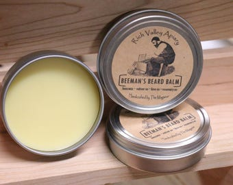 Rich Valley Apiary Beeman's Beard Balm 2oz Tin. Homemade from our beehive to you!