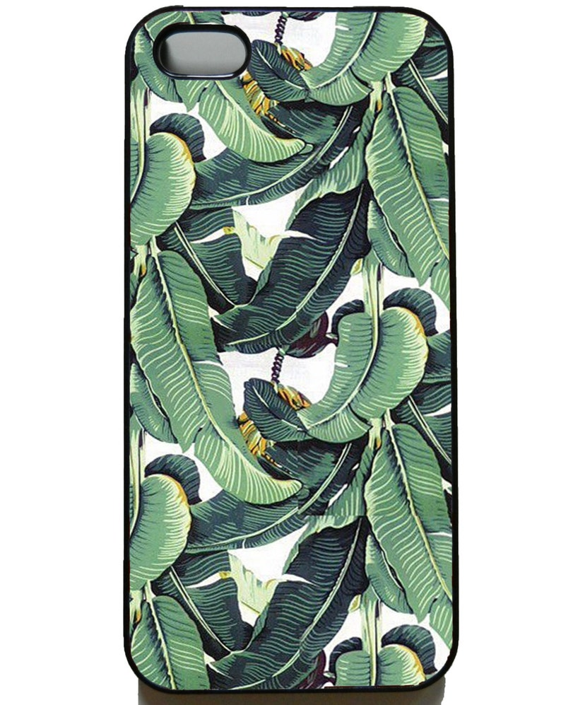 Tropical Banana palm Hard Back Case for IPhone 4/4s , IPhone 5/5s/SE Iphone  6/6s ,6Plus/6S Plus, 7/7Plus, IPhone 8/8 Plus Iphone X/XS/Xs Max