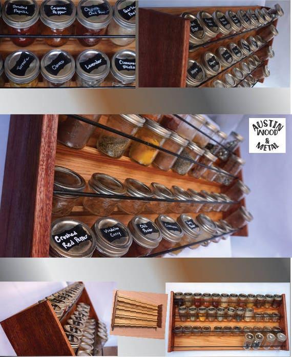 Profi-Küche Gewürz Aufbewahrung Rack 48 weckglas Gewürzregal | Etsy