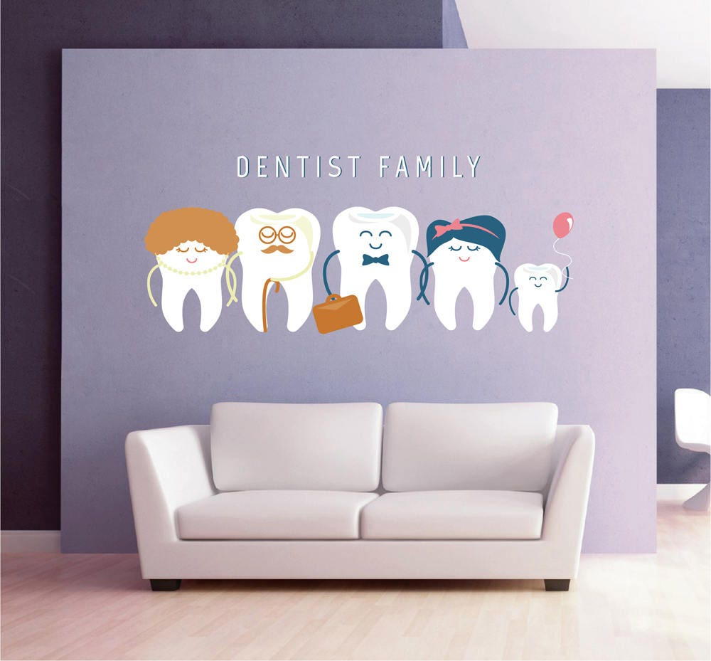 Exceptionnel Teeth Wall Decal Tooth Wall Decal Family Dentist Dental Clinic | Etsy