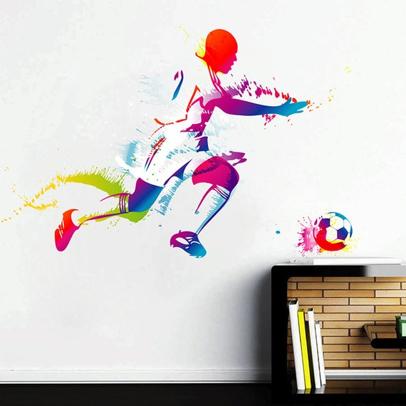 european football player wall decals soccer player wall decals   etsy