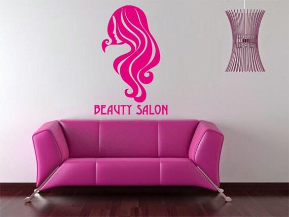 Kik851 Sticker Autocollant Mural Cheveux Salon Coiffure Boutique