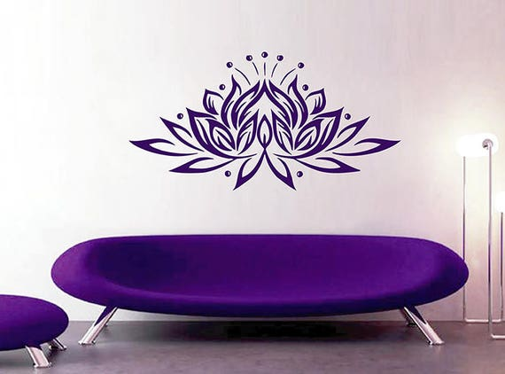 Lotus Wall Decal Sticker Buddhist Symbol Lotus Flower Sticker Etsy